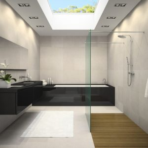 Bathroom sky panels